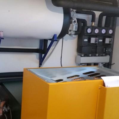 Zamenjava centralne peči na trda goriva. Energent peleti.