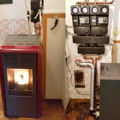 Rešitev centralnega ogrevanje z pečjo na pelete