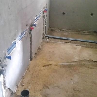 Obnova kopalnice. Sanacija vodovodne in odtočne napeljave.