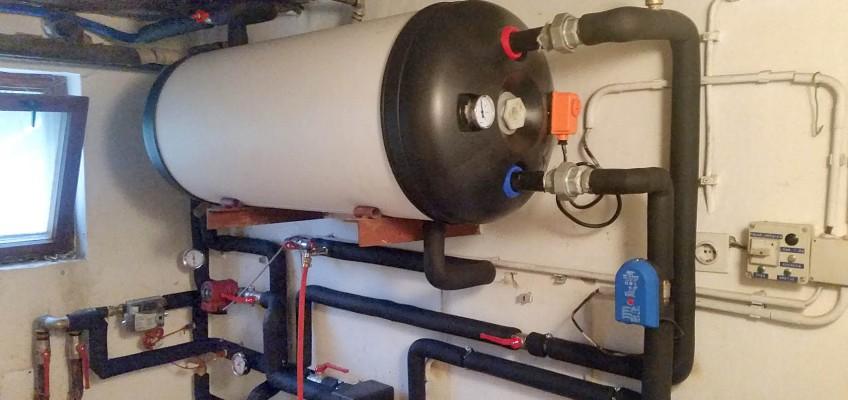 Predelava toplotnega izmenjevalca za stanovanjsko hišo.